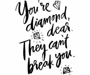 quotes, diamond, and black image