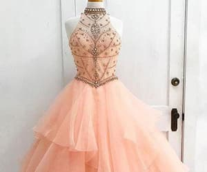 high neck prom dresses, custom made prom dresses, and prom dresses ball gown image