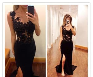 sexy party dress, party dress lace, and lace black party dress image