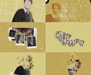 aesthetic, cedric diggory, and harry potter image