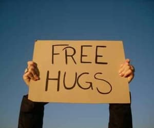 aesthetic, tumblr, and free hugs image