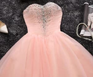 pink prom dresses, short homecoming dress, and blush prom dresses image