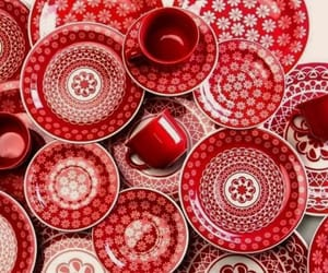 art work, lovely, and red image