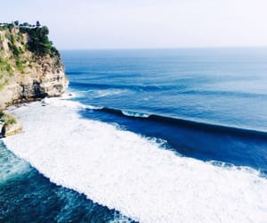 beach, water, and landscapes image