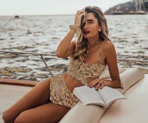 bikini, boat, and gold image