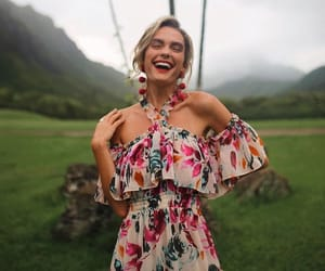 dress, floral, and quigley image