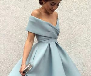 prom dress, homecoming dresses a-line, and blue prom dress image