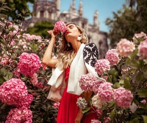 blazer, flowers, and style image