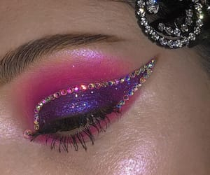 makeup, beauty, and eyeshadow image