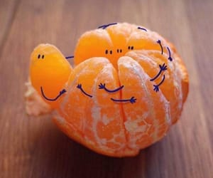 art, fruit, and orange image