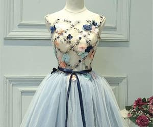 homecoming dresses, prom dress short, and blue prom dress image