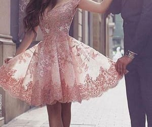 prom dress, homecoming dress, and pink homecoming dress image