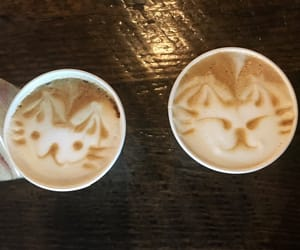 coffee, latte, and latte art image