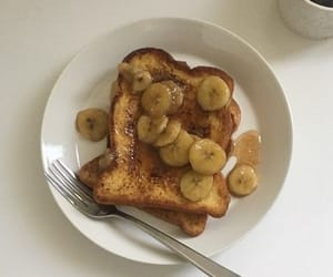 bananas, breakfast, and french toast image