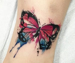 ink, butterfly tattoo, and body art image