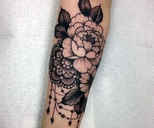 black ink, body art, and tattoo image