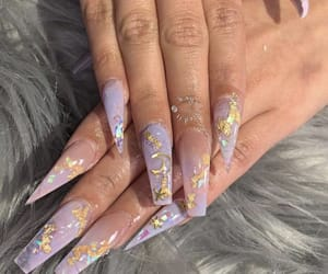 nails, long nails, and nail art image