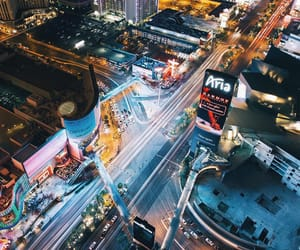 aerial view, cities, and vegas image