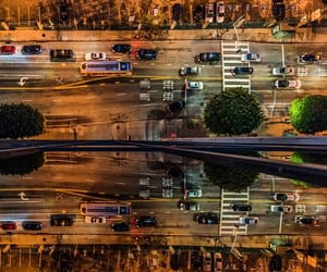 aerial photography, los angeles, and road image