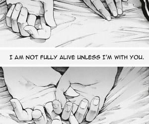 anime, love quote, and anime couple image