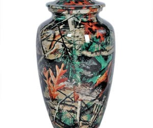 urns for ashes, camouflage urns, and camo urns for ashes image
