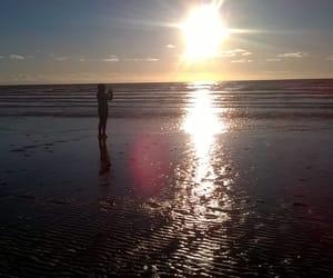 beach, sunset, and rømø image