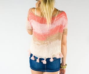 etsy, coral pink, and hippie clothes image