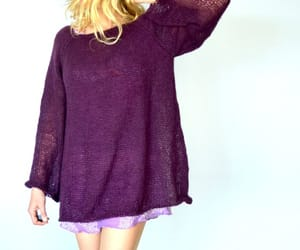 etsy, purple, and purple sweater image