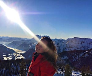 cold, girl, and mountains image