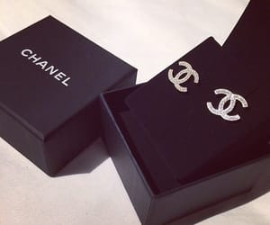 chanel, diamond, and earrings image