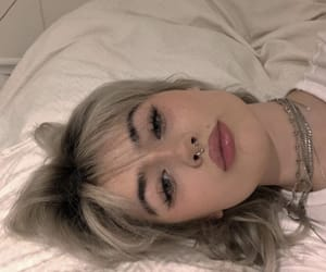 blond, girl, and septum image