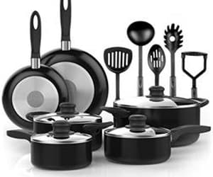 adeline cookware sets, farberware cookware sets, and paula deen cookware sets image
