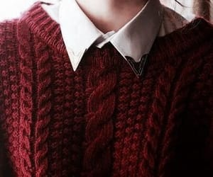 red, sweater, and gryffindor image