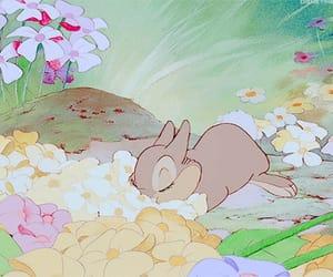 disney, bambi, and flowers image