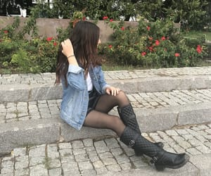 boot, fashion, and hair image