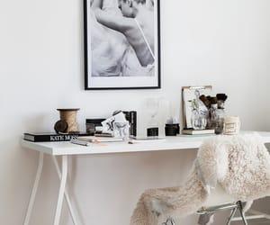 white, desk, and interior image
