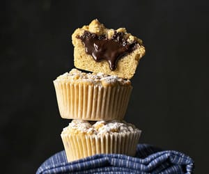 crumble, muffins, and stuffed image