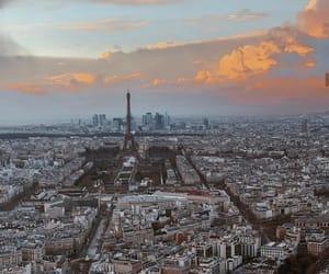 city, clouds, and paris image