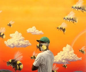 flower boy, bee, and tyler the creator image