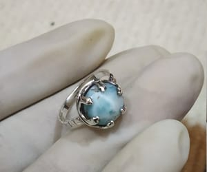 etsy, blue stone ring, and gift for her image