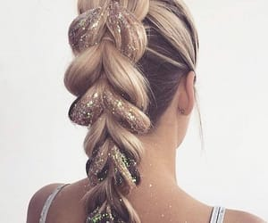 beautiful, glitter, and hair image