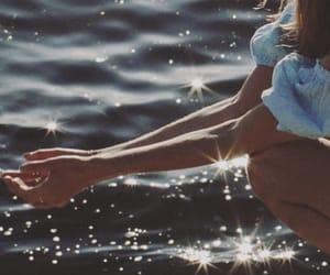 sea, girl, and vintage image