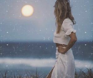 beauty, girl, and sea image