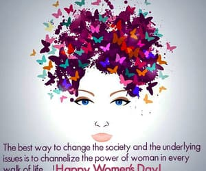 happy women's day, womens day quotes, and women's day greetings image