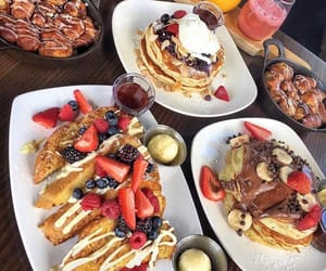 chocolate, delicious, and pancakes image