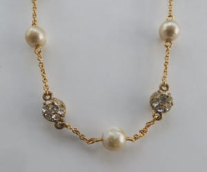 beaded necklace, bridal necklace, and pearl jewelry image