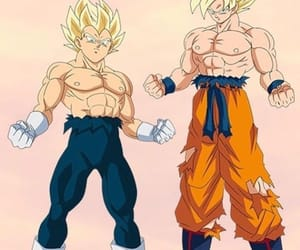 anime, vegeta, and super sayian image