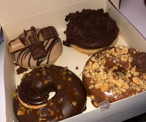 brownie, donut, and doughnut image