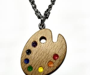 etsy, gift for her, and wooden pendant image