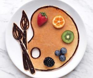 breakfast, fruit, and art image
